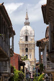 Basílica metropolitana da catedral de Saint Catherine de Alexandria em Cartagena de Índia imagem de stock