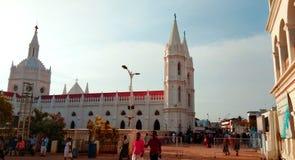 A basílica mundialmente famosa de nossa senhora da boa saúde no velankanni imagem de stock royalty free