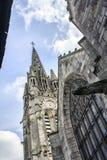 Basílica Notre-Dama-du-Roncier - monumento em Josselin, Morbihan, França fotografia de stock