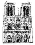 Basílica Notre Dame stock de ilustración