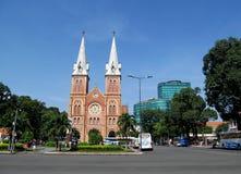 Basílica Notre-Dame de Saigon foto de stock
