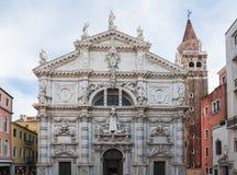 Basílica o iglesia di San Moise, Venecia, Italia imagenes de archivo
