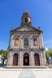 A basílica O papa Francis promoveu a igreja do santuário à basílica Imagens de Stock