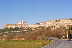 Basílica papal de St Francis de Assisi Foto de archivo libre de regalías