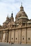 A basílica Pilar em Zaragoza, Spain. fotografia de stock royalty free