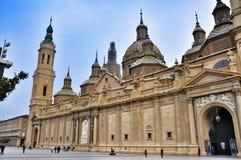 Basílica Pilar en Zaragoza foto de archivo