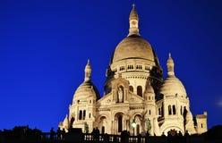 Basílica Sacre Coeur (coração sagrado) Montmartre em Paris Imagem de Stock