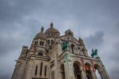 Basílica Sacre Coeur en París Francia Foto de archivo libre de regalías