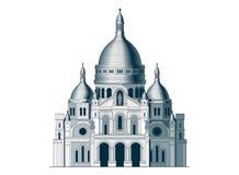 A basílica sagrado Sacre Coeur em França - 2 Foto de Stock Royalty Free