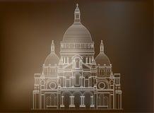 A basílica sagrado Sacre Coeur em França - 3 Foto de Stock Royalty Free