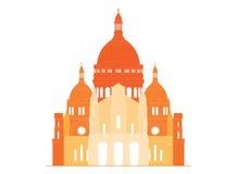 A basílica sagrado Sacre Coeur em França - 5 Imagens de Stock Royalty Free