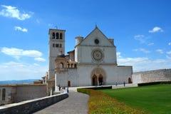 Basílica San Francesco, Assisi, Úmbria/Itália Fotografia de Stock Royalty Free