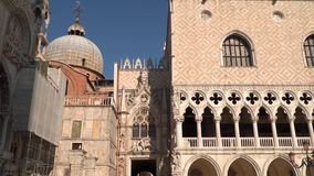 Basílica San Marco Facade Decoration almacen de video
