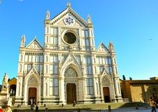 Basílica Santa Croce en Florencia Foto de archivo