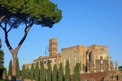 Basílica Santa Francesca Romana Fotos de archivo