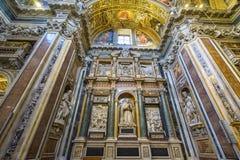 Basílica Santa Maria Maggiore Rome Italy de la capilla de las estatuas imagenes de archivo