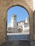 Basílica, St Francis de Assisi imagen de archivo