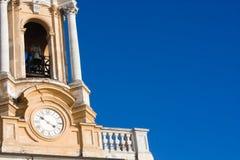 Basílica Superga - el reloj Imágenes de archivo libres de regalías