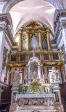 Basílica Veneza Itália de Santa Maria Giglio Zobenigo Church Altar Foto de Stock