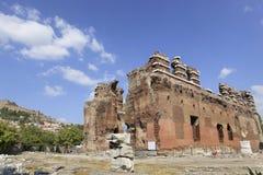 Basílica vermelha na cidade do grego clássico de Pergamon fotografia de stock royalty free