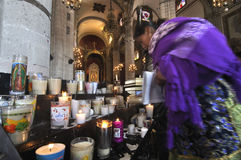 Basílica vieja de Guadalupe Foto de archivo