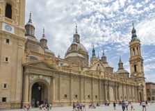 Basílica Virgen del Pilar in ÇZaragoza Royalty Free Stock Photo