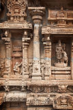 bas印度reliefes寺庙 免版税图库摄影