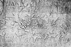 Bas-ανάγλυφα Wat Angkor Στοκ φωτογραφία με δικαίωμα ελεύθερης χρήσης