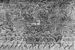 Bas-ανάγλυφα Wat Angkor Στοκ Φωτογραφίες