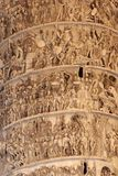 Bas-ανάγλυφο στο τετράγωνο Colonna στηλών (Ρώμη) στοκ φωτογραφία με δικαίωμα ελεύθερης χρήσης