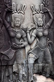 Bas-ανακούφιση σε Angkor Wat, Καμπότζη Στοκ Φωτογραφία