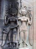 Bas-ανακούφιση σε Angkor Wat, Καμπότζη Στοκ Εικόνα