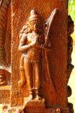Bas-ανακούφιση στον ινδό ναό Ναός Swami Janardana Ναός Varkala Στοκ Φωτογραφία