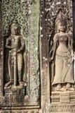 Bas-ανακούφιση στους τοίχους των Watt Angkor Στοκ εικόνα με δικαίωμα ελεύθερης χρήσης