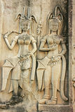 Bas-ανακούφιση τοίχων Devatas, ναός Angkor Wat Στοκ φωτογραφίες με δικαίωμα ελεύθερης χρήσης