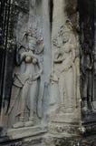 Bas-ανακούφιση Apsara στο ναό Angkor Wat Στοκ φωτογραφία με δικαίωμα ελεύθερης χρήσης