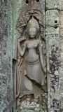 Bas-ανακούφιση Apsara στο ναό Bayon Στοκ Εικόνα