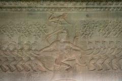 Bas-ανακούφιση Shiva σε Angkor Wat, Καμπότζη Στοκ Εικόνα