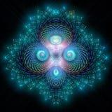 Bas гениальной картины фрактали походя ледистые майяские Стоковые Фотографии RF
