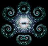 Bas гениальной картины фрактали походя ледистые майяские Стоковое Изображение RF