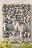 Bas-alivio adornado Fotografía de archivo libre de regalías