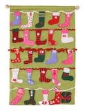 Bas colorés de Noël Photographie stock
