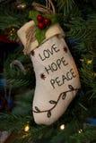 Bas d'amour, d'espoir et de paix Image libre de droits