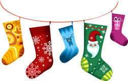 Bas de Noël Photographie stock libre de droits