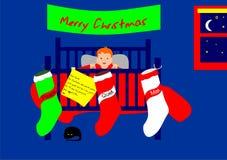 Bas de Noël Photos libres de droits