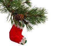 Bas de Noël Images libres de droits