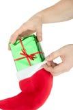 Bas de Noël Images stock