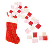 Bas de Noël Image libre de droits