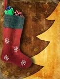 Bas de Noël avec des cadeaux Photographie stock libre de droits
