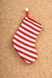 Bas de Noël de chéri Photographie stock